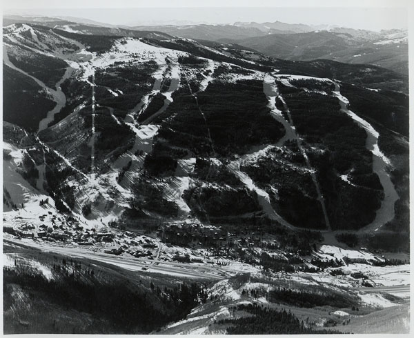 Aerial view of Vail in the 1960s
