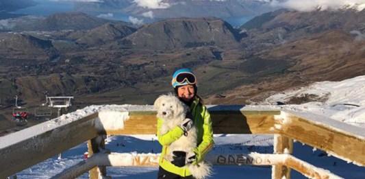 Coronter Peak view with mascot Oscar