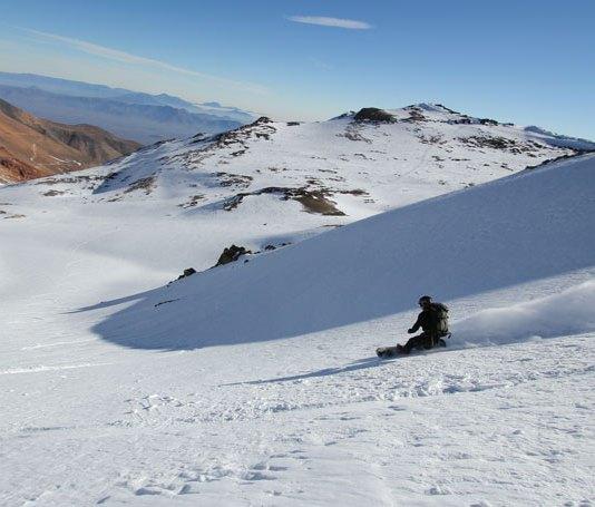 Snowboarding Tony's Bowl Ski Arpa Chile