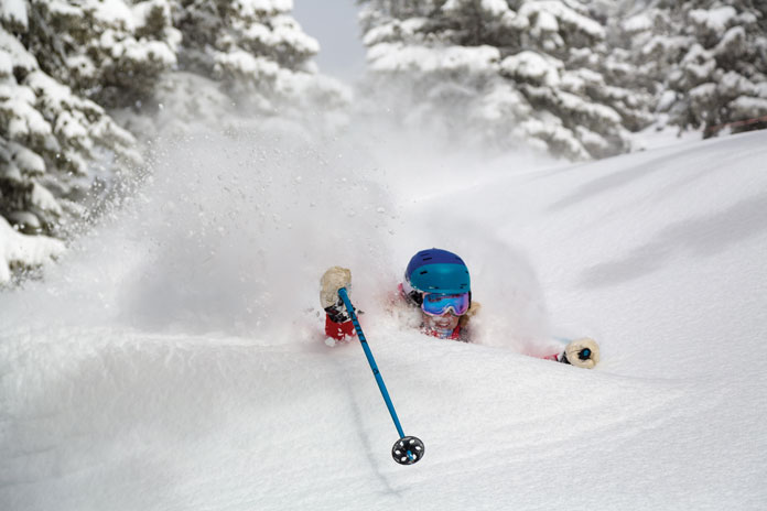 Jess in deep at Jackson Hole