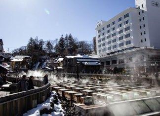 Yubotake Hot Springs Field at Kusatsu Onsen
