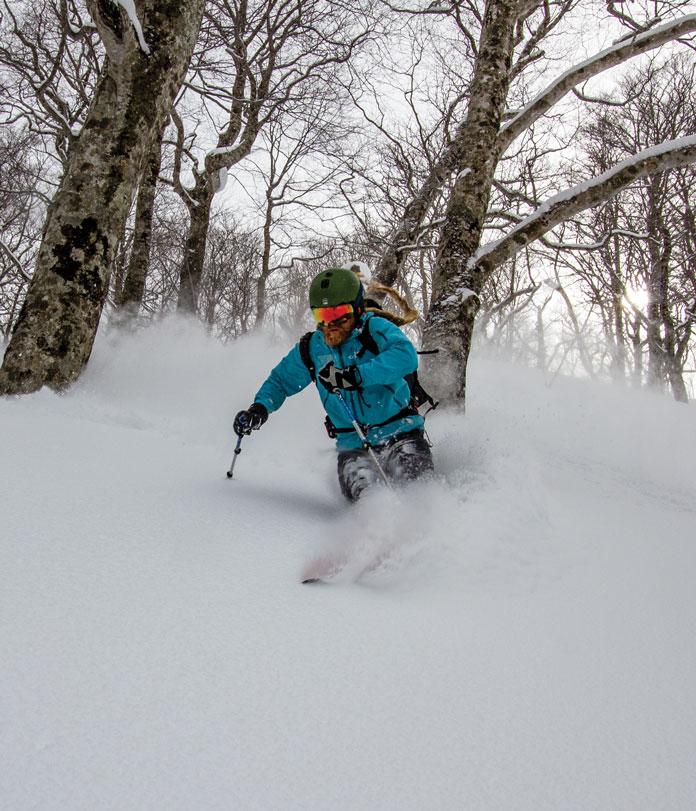 tree skiing Tenjindaira