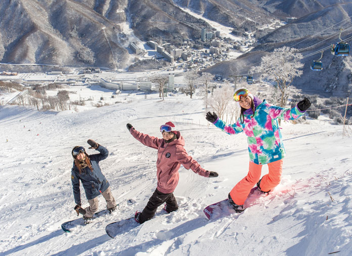 Naeba Prince Resort and slopes view