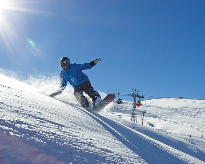 snowbaord instructor at Valle Nevado