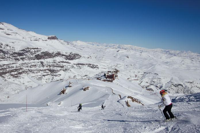 groomed run skiing at Valle Nevado