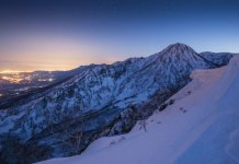 night view from Myoko Grand Traverse