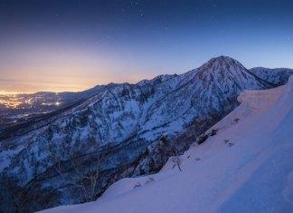 night view from Myoko Grand Traverse