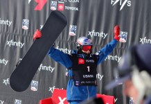 Scotty James on podium World Champs Park City