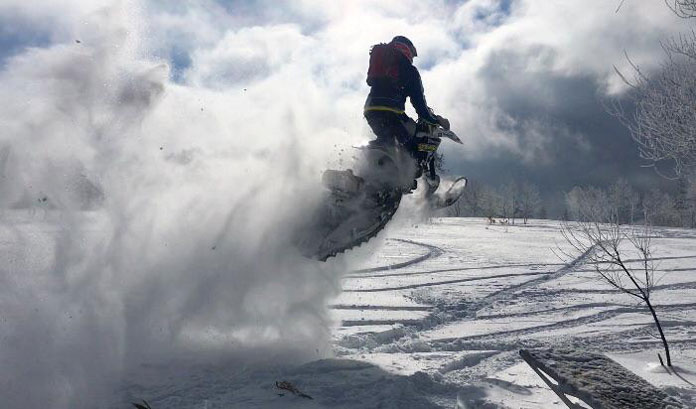 Hit the throttle on a Hokkaido snow bike and this happens