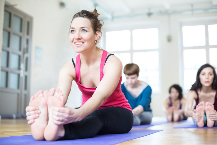 Yoga excercises on Jackson Hole Mindful Camp