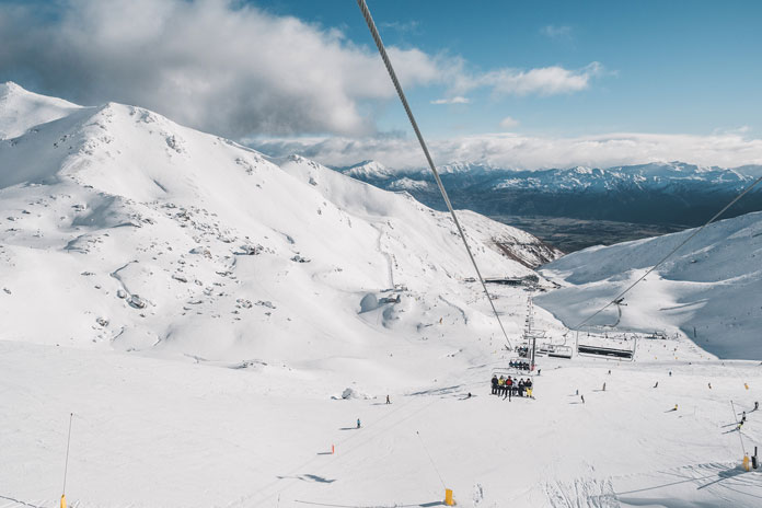 View of the 6 seat chair at The Remarkables Queentown