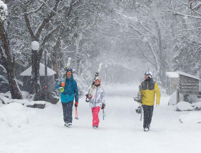 Snowy Thredbo village scene