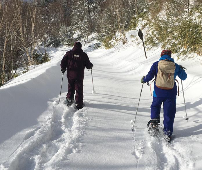 Snowshoeing at Manza Onsen