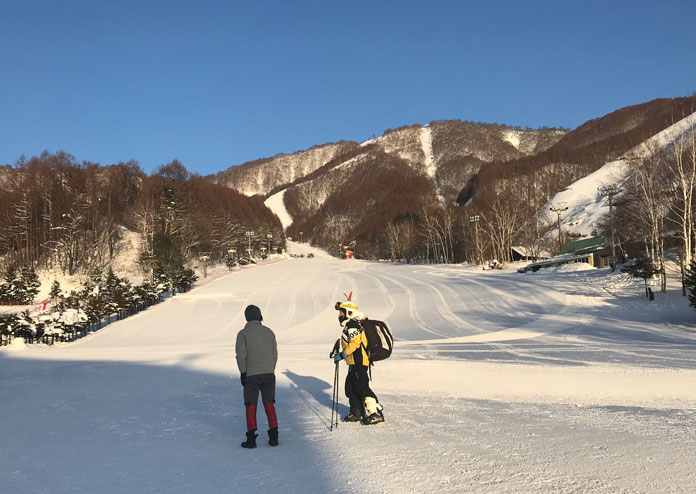First run at Oze-Iwakura Ski Resort