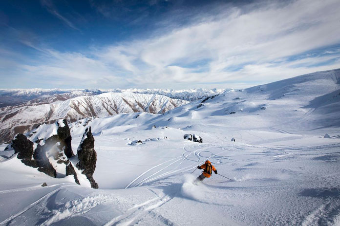 cat skiing in Soho Basin is one of Queenstown's leading ski experiences