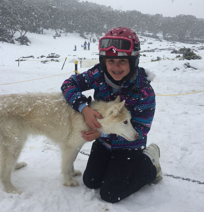 Howling Huskys at Baw Baw are a hit with the kids