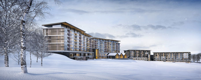 Artist's impression of the new Park Hyatt Niseko Hanazono Hotel & Residences