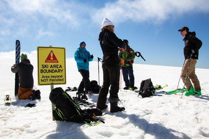 Skins on time with Hotham backcountry tours