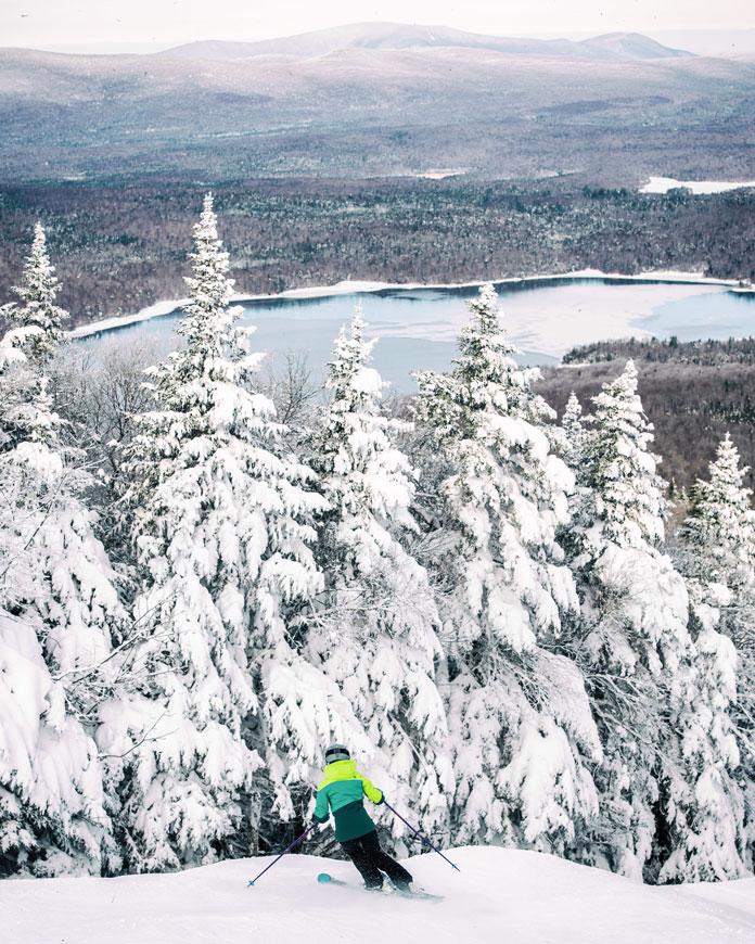 Powder day skiing at Mt Snow
