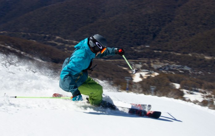 skiing the rossignol Black Ops Holyshred at Thredbo