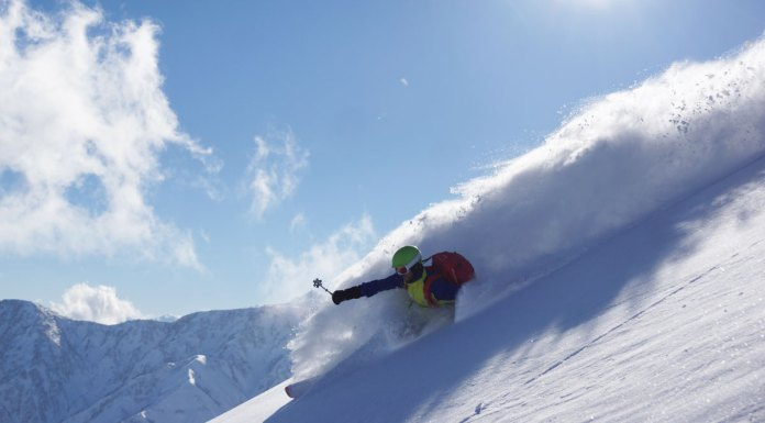 High above Happo in the Hakuba back country