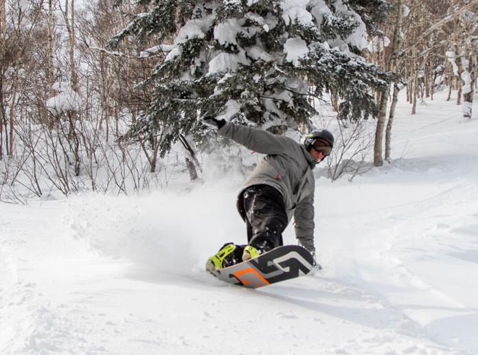 Powder riding at Sapporo Teine ski area