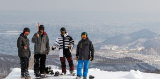 view over the city from Sapporo Teine ski resort