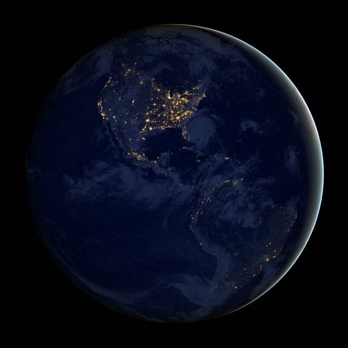NASA North and South America night sky composite image