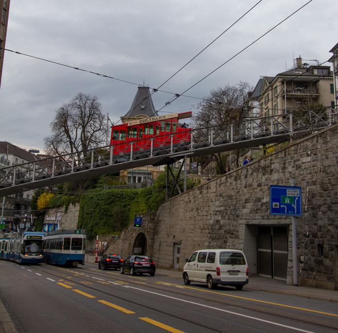Polybahn funicular in Zurich