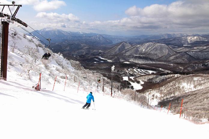 Views to Bandai-san from the top of Minowa ski area, Aizu