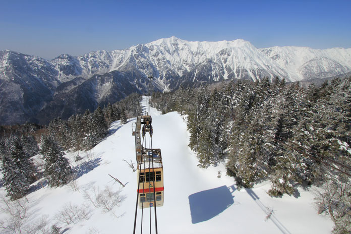 Shinhotaka Ropeway in Gifu is Japan's only double decker cable car