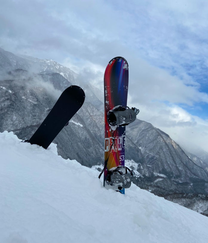 Taira ski area Nanto City view