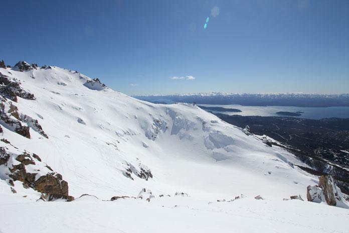 La Laguna bowl view, Bariloche sidecountry skiing
