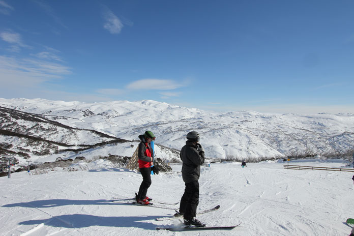 View of Main Range from Guthega side of Perisher ski resort, Snowy Mountain NSW Australia