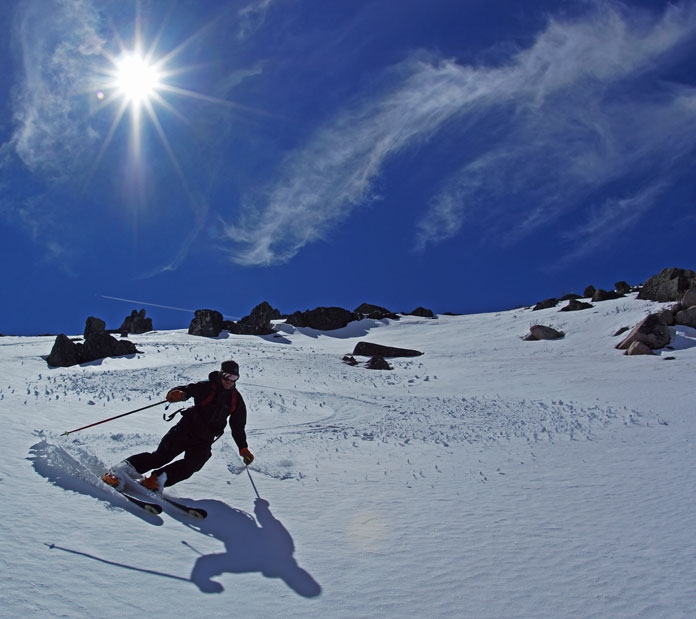 Skiing Mt Stirling