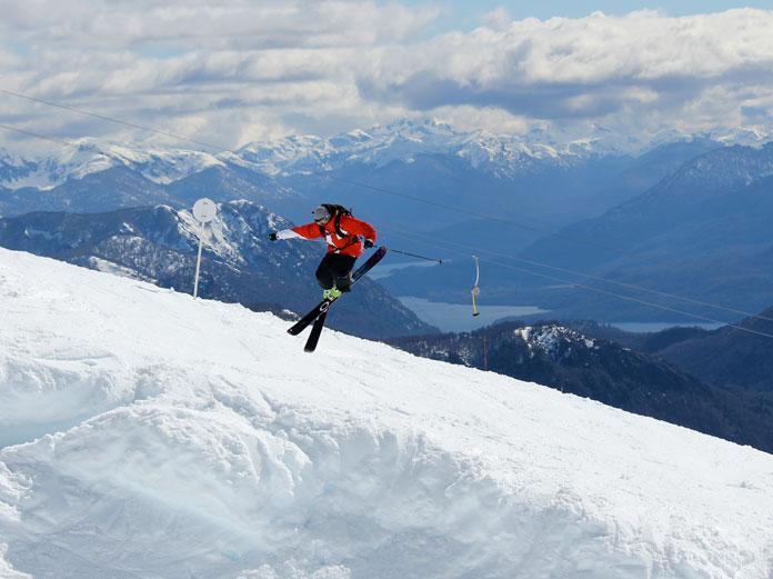 Skier jumping at Chapelco, Argentina