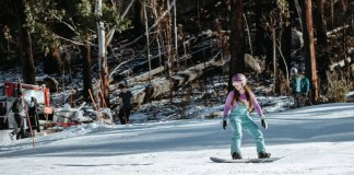 snowboarding at Corin Forest