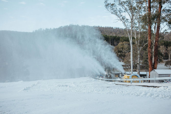 Snowmaking at Corin Forest Canberra