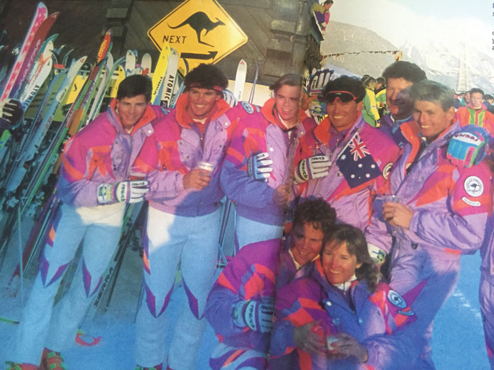 Australian Interski Team at St Anton 1991