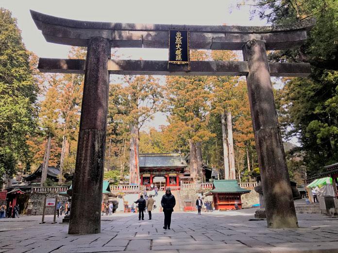 Main torii gate at Toshogu Shrine Nikko