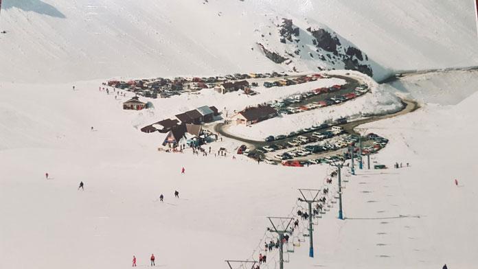 The Tekapo double chairlift at Rainbow Ski Area in the 1990s