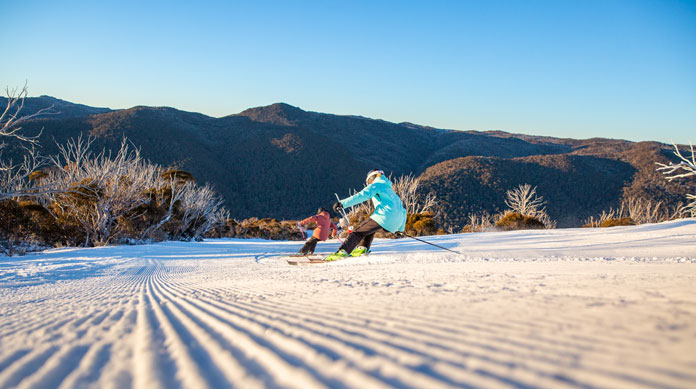 First Tracks on the Supertrail at Thredbo