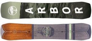 Arbor's high-quality starter snowboard