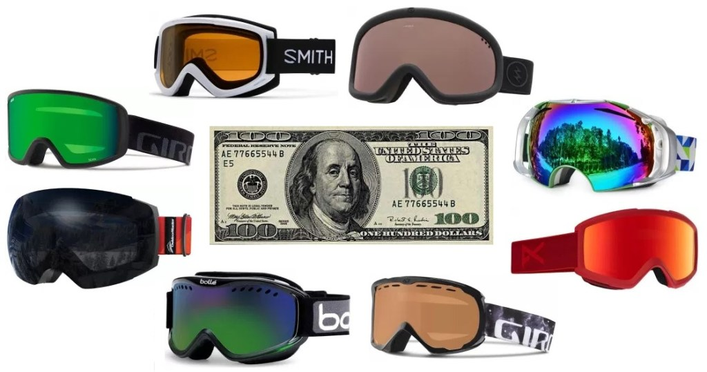 Here's our review for the best snowboard and ski goggles under $100
