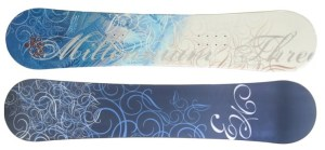 M3's highly rated snowboard for women