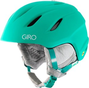 A solid MIPS snow helmet for women