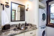 The main level full bath includes a washer and dryer for your use [Tamarack]