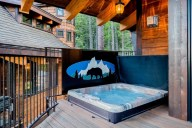 You'll love relaxing in your private hot tub after a long day skiing [Ponderosa]