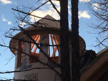 Ponderosa Turret's has a roof! 11/9