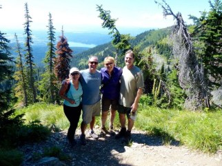 Darryl and me, hiking near Snow Bear with Dane and Elaine